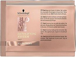 Profumi e cosmetici Concentrato detergente detox per capelli - Schwarzkopf Professional BlondMe Detoxifying System Shot
