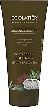Profumi e cosmetici Crema emolliente per i piedi - Ecolatier Organic Coconut Foot Cream
