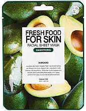 """Profumi e cosmetici Maschera viso """"Avocado"""" - Fresh Food For Skin Facial Sheet Mask Avocado Smoothing"""