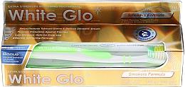 "Profumi e cosmetici Set ""Smoking"", spazzola color lime - White Glo Smokers Formula Whitening Toothpaste (toothpaste/100ml + toothbrush)"