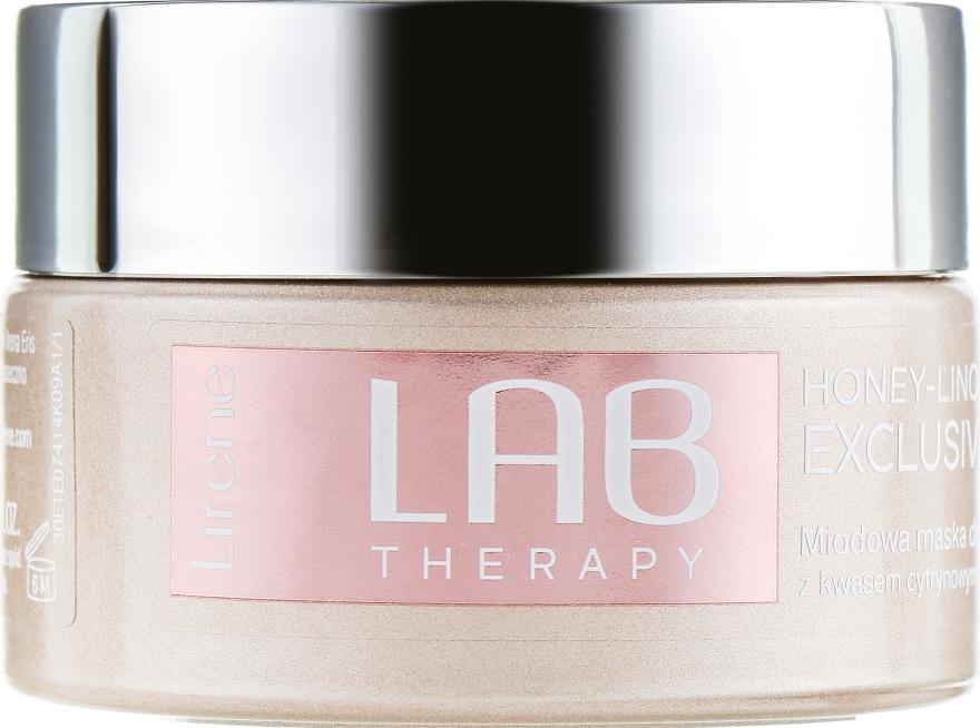 Maschera viso per massaggio con miele - Lirene Lab Therapy Nourishment Linoleique Exclusive Mask — foto N2