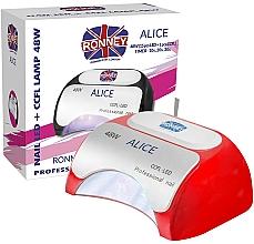 Profumi e cosmetici Lampada CCFL + LED, rossa - Ronney Profesional Alice Nail CCFL+LED 48w (GY-LCL-015D) Lamp