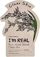 Profumi e cosmetici Maschera in tessuto - Tony Moly I'm Real Rice Mask Sheet