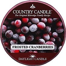 """Profumi e cosmetici Candela da tè """"Frosted Cranberry"""" - Country Candle Frosted Cranberry Daylight"""