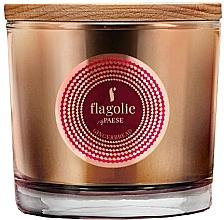 "Profumi e cosmetici Candela profumata in bicchiere ""Pan di zenzero"" - Flagolie Fragranced Candle Gingerbread"