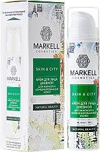 """Profumi e cosmetici Crema viso da giorno """"Fungo di neve"""" per pelli grasse e miste - Markell Cosmetics Skin&City Face Cream"""