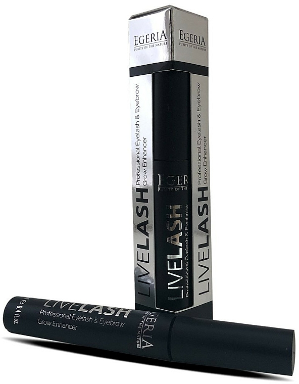 Siero per sopracciglia e ciglia - Egeria Livelash Eyelash & Eyebrow Grow Enhancer