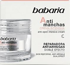 Profumi e cosmetici Crema viso intensiva contro le macchie dell'età - Babaria Anti-Dark Spot Intensive Cream