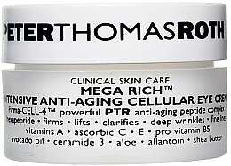 Profumi e cosmetici Crema per palpebre antietà - Peter Thomas Roth Mega-Rich Intensive Anti-Aging Cellular Eye Cream