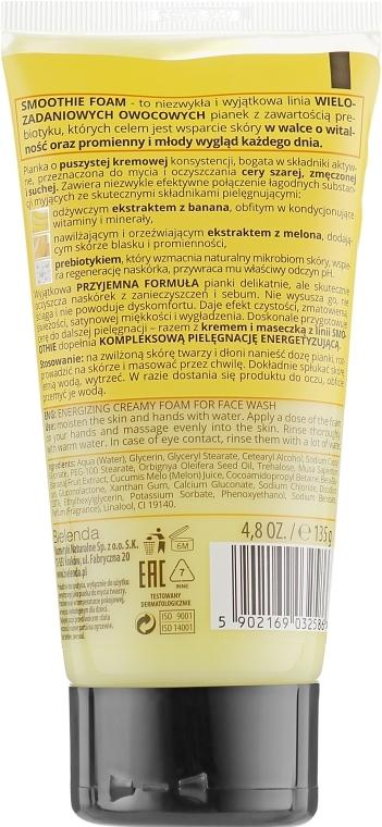 "Schiuma detergente energizzante ""Melone e banana"" - Bielenda Smoothie Foam Banana And Melon — foto N2"