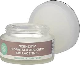 Profumi e cosmetici Crema viso al collagene - Yamuna Sensitive Hydrating Face Cream With Collagen