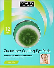 Profumi e cosmetici Patch occhi - Beauty Formulas Cucumber Cooling Eye Pads