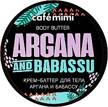 "Profumi e cosmetici Burro corpo ""Argan e Babassu"" - Cafe Mimi Body Butter Argana And Babassu"