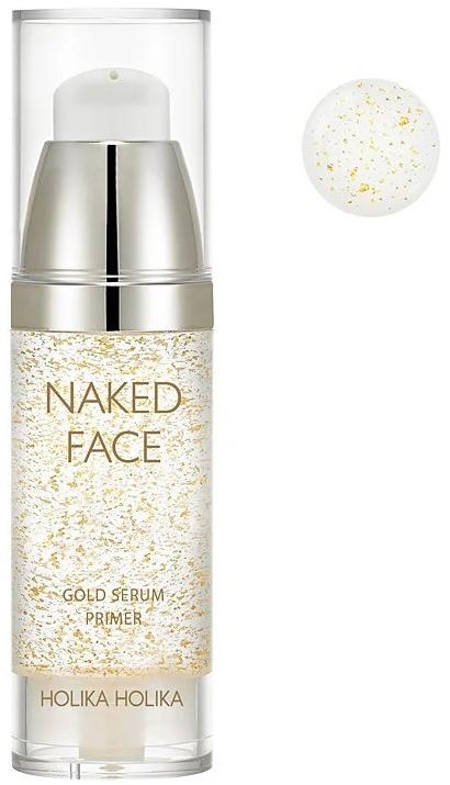 Primer-siero - Holika Holika Naked Face Gold Serum Primer