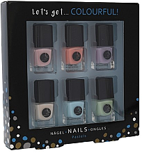 Profumi e cosmetici Set - Cosmetic 2K Let's Get Colourful! Pastels Nail Polish (nail/laquer/6x5ml)