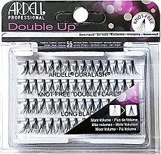 Profumi e cosmetici Ciglia finte a ciuffetti - Ardell Double Up Knot Free Double Flares Black Long