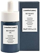 Profumi e cosmetici Olio viso vitaminico nutriente, da notte - Comfort Zone Renight Nourishing Vitamin Oil
