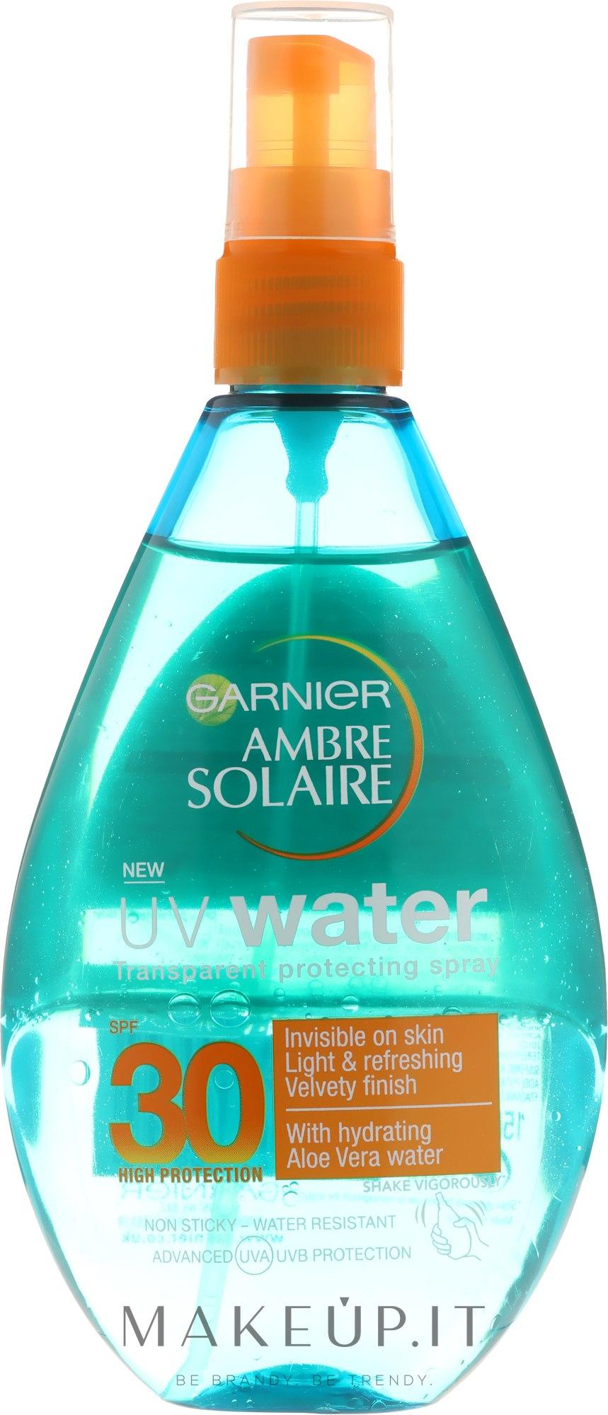 Spray solare per corpo - Garnier Ambre Solaire UV Water Clear Sun Spray — foto 150 ml