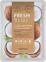 Profumi e cosmetici Maschera in tessuto all'olio di cocco - Tony Moly Fresh To Go Coconut Mask Sheet Hydrating