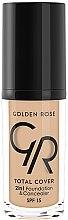 Profumi e cosmetici Fondotinta-correttore - Golden Rose Total Cover 2in1 Foundation & Concealer