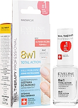 Profumi e cosmetici Trattamento rigenerante unghie 8in1 - Eveline Cosmetics Nail Therapy Total Action 8 in 1