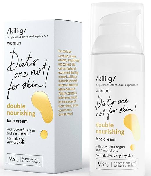 Crema con doppio effetto nutriente per pelli normali e secche - Kili·g Woman Double Nourishing Cream — foto N1