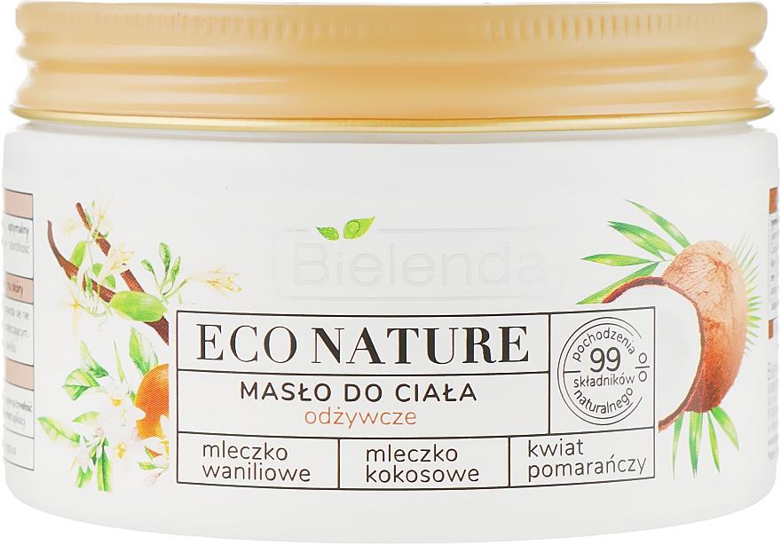 Olio corpo nutriente - Bielenda Eco Nature Body Butter Vanilla Coconut Milk Orange Blossom