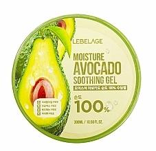 Profumi e cosmetici Gel viso - Lebelage Moisture Avocado 100% Soothing Gel