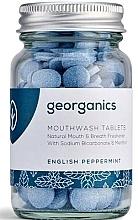 Profumi e cosmetici Compresse di colluttorio alla menta inglese - Georganics Natural Mouthwash Tablets English Peppermint