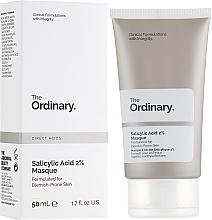 Profumi e cosmetici Maschera viso con 2% di acido salicilico - The Ordinary Salicylic Acid 2% Masque