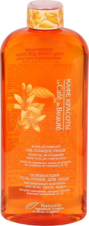 "Gel-tonico rinfrescante viso ""Cocktail vitaminico"" per tutti i tipi di pelle - Le Cafe de Beaute Face Refreshing Gel-Tonic"
