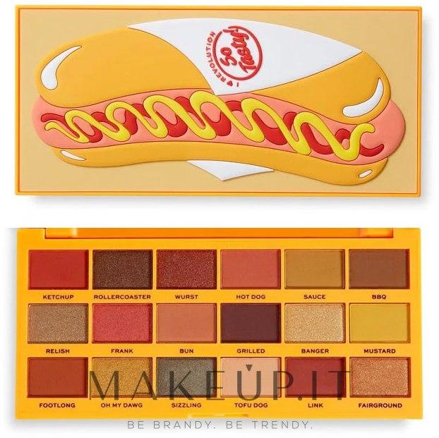 Palette ombretti, 18 tonalità - I Heart Revolution Tasty Palette — foto Hot Dog