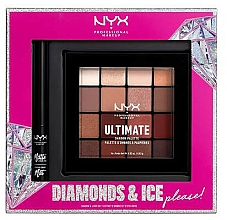 Profumi e cosmetici Set - NYX Professional Makeup Diamonds & Ice Please Shadow & Liner Set (sh/palette/12x1.18g+liner/2ml)