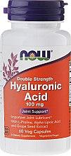 Profumi e cosmetici Integratore alimentare all'acido ialuronico - Now Foods Hyaluronic Acid 100 mg