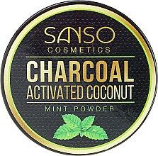Profumi e cosmetici Dentifricio sbiancante in polvere - Sanso Cosmetics Charcoal Activated Coconut Mint Powder