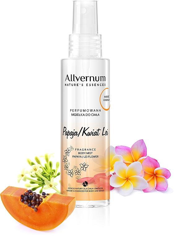 """Spray corpo profumato """"Fiore di papaia"""" - Allverne Nature's Essences Body Mist"""