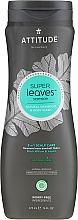 Profumi e cosmetici Shampoo-gel - Attitude Super Leaves Natural Shampoo & Body Wash 2-in-1 Scalp Care