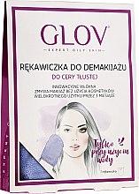 Profumi e cosmetici Guanto struccante, viola - Glov Expert Oily and Mixed Skin