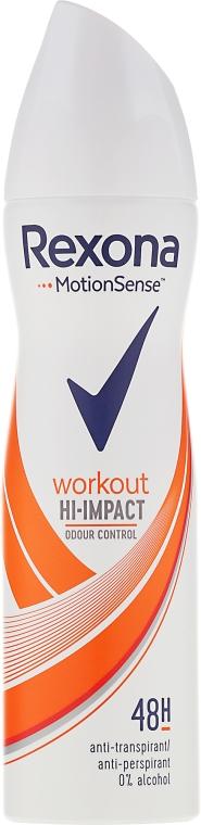 Deodorante spray - Rexona Motionsense Workout Hi-impact 48h Anti-perspirant
