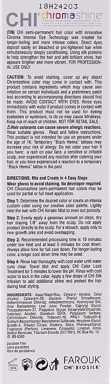 Tinta semipermanente - Chi Chromashine Intense Bold Semi-Permanent Color — foto N2