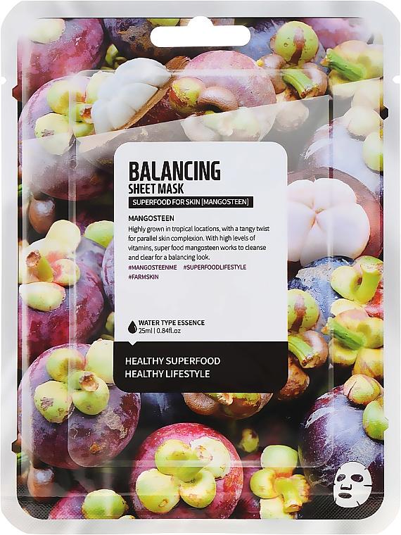 """Maschera in tessuto equilibrante """"Mangostano"""" - Superfood For Skin Balancing Sheet Mask"""
