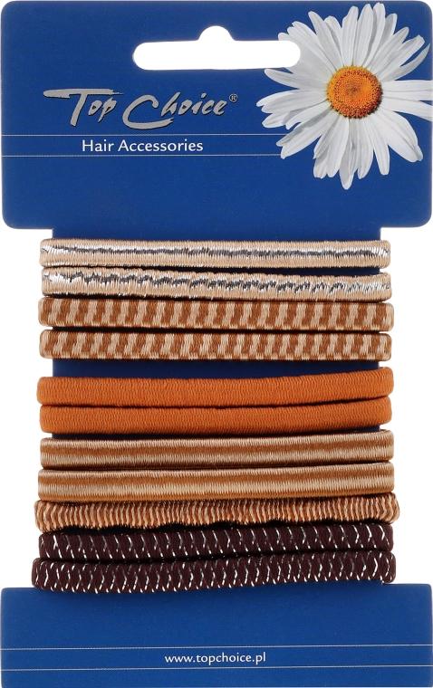 Elastici per capelli con un motivo, 11 pezzi - Top Choice — foto N1