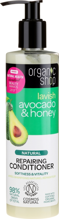 Balsamo capelli - Organic Shop Avocado & Honey Repairing Conditioner