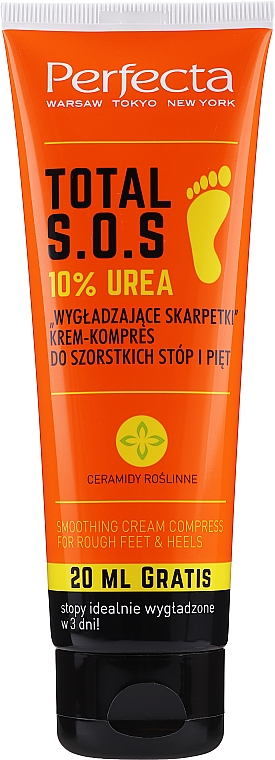 Crema-impacco per piedi e talloni - Perfecta Total S.O.S. 10% Urea