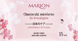 Profumi e cosmetici Salviette struccanti micellari per viso, occhi e collo, 15 pz - Marion Japanese Ritual Micellar Wipes Make-Up Removal
