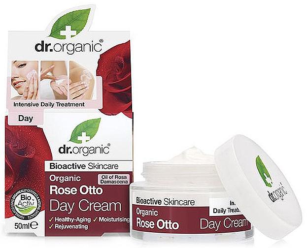 """Crema antietà, da giorno """"Rose Otto"""" - Dr. Organic Bioactive Skincare Rose Otto Day Cream"""