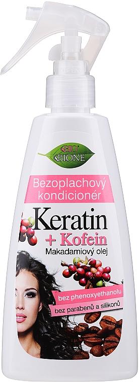 Condizionante-spray rigenerante cheratina + caffeina per capelli - Bione Cosmetics Keratin + Caffeine Leave-in Conditioner Spray