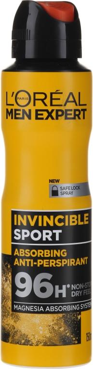 Deodorante antitraspirante per uomo - L'Oreal Men Expert Invincible Sport Deodorant 96H