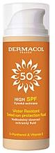 Profumi e cosmetici Fluido solare impermeabile - Dermacol Sun Tinted Water Resistant Fluid SPF50