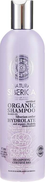 Shampoo per capelli danneggiati - Natura Siberica Certified Organic Repair & Protection Shampoo